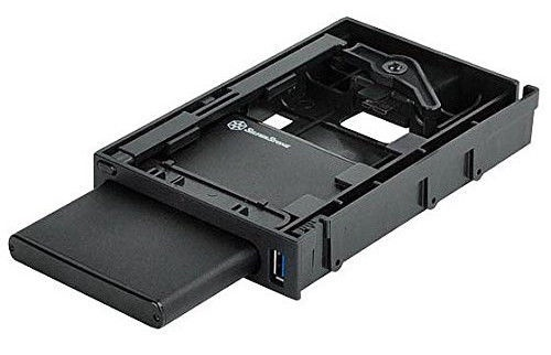 "SilverStone Enclosure MS06 2.5"" SSD/HDD USB 3.0 Black"
