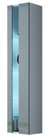 Seinariiul Cama Meble Vigo New Shelf Unit White/Grey Gloss