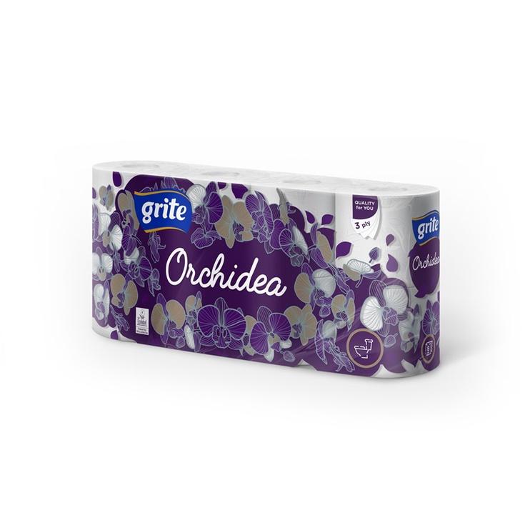 Tuletinis popierius Grite Orchidea, 3 sl., 8 vnt.