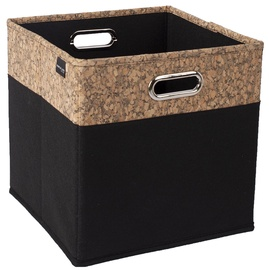 Home4you Corby Cork Basket 30x30x30cm Black