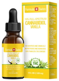 Formula Swiss Cannabidiol Vanilla Full Spectrum 10ml 15%