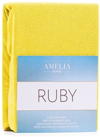 AmeliaHome Ruby Frote Bedsheet 140-160x200 Yellow 04