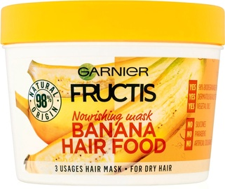 Kaukė plaukams Garnier Fructis Nourishing Banana Hair Food, 390 ml