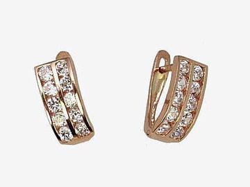 Diamond Sky 14K Red Gold Earrings Confetti XIX Solid Gold 585