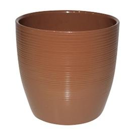 SN Ceramic Flower Pot 8025 Ø13.5cm Brown