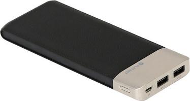 Зарядное устройство - аккумулятор Platinet Leather, 11000 мАч, черный