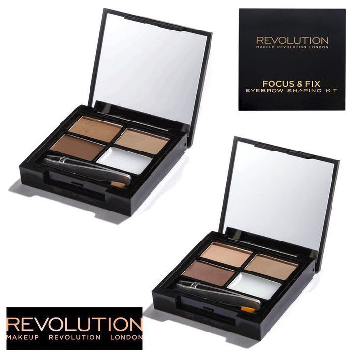 Makeup Revolution London Focus & Fix Eyebrow Shaping Kit 5.8g Light - Medium