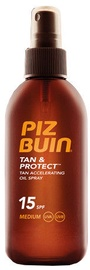 Piz Buin Tan & Protect Tan Accelerating SPF15 150ml Oil Spray
