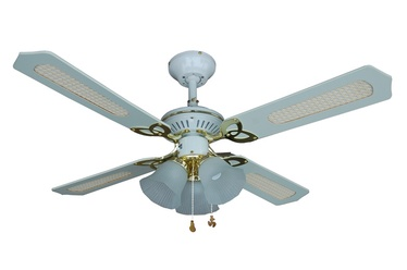 Lampa-ventilators NS42-WP-R4C3BEA 3x60W E14 122x39cm