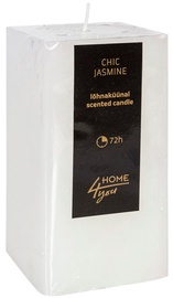 Home4you Candle Chic Jasmine 7.5x7.5xH15cm White
