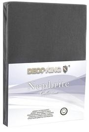 Palags DecoKing Nephrite, pelēka, 180x200 cm, ar gumiju