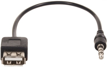 Maclean Plug USB Female To 3.5mm Jack Male 0.23m Black