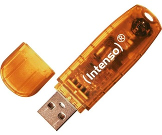 USB atmintinė Intenso Rainbow Line Orange, USB 2.0, 64 GB