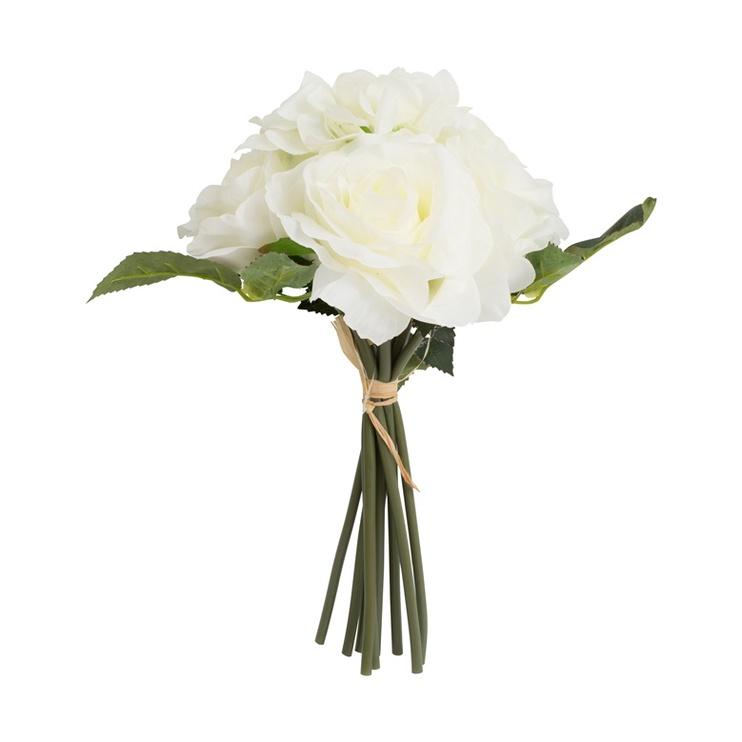 Букет искусственных цветов HY04.10, белый/зеленый