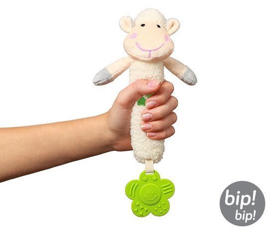 BabyOno Sweet Lambie Squeaky Teething Toy
