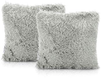 AmeliaHome Karvag Pillowcase 45x45 Grey 2pcs