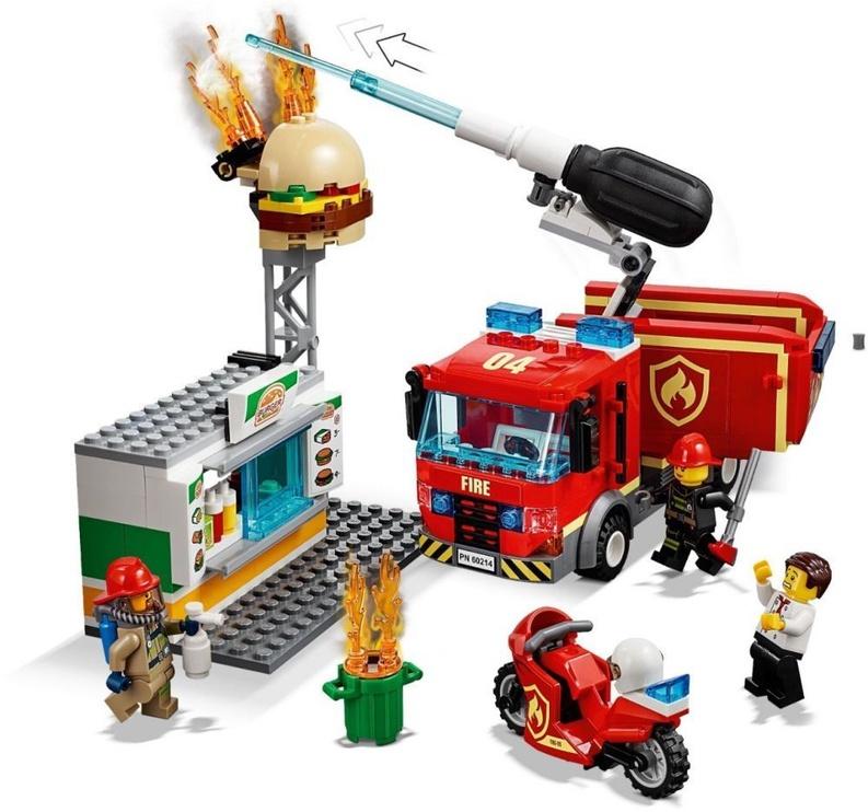 Konstruktorius LEGO® City 60214 Mėsainių baro gaisro gesinimas