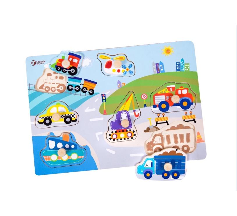 Lavinamasis žaislas, Transportas, medinis
