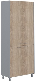 Skyland Offix New Office Cabinet OHC 87.3 Light Sonoma Oak/Metallic