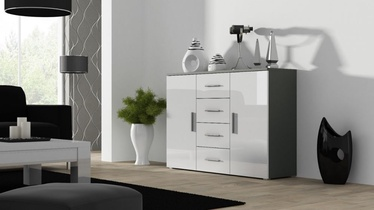 Cama Meble Uni Chest Of Drawers Grey/White Gloss