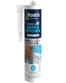 Bostik Bath&Kitchen Perfect Seal Acetoxy Silicone 280ml White