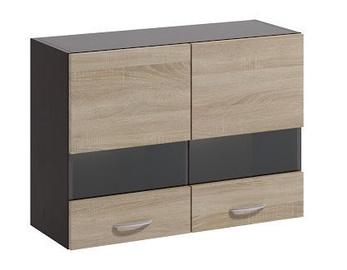 Верхний кухонный шкаф WIPMEB Livia LV-01/G80 W Sonoma Oak, 800x285x575 мм