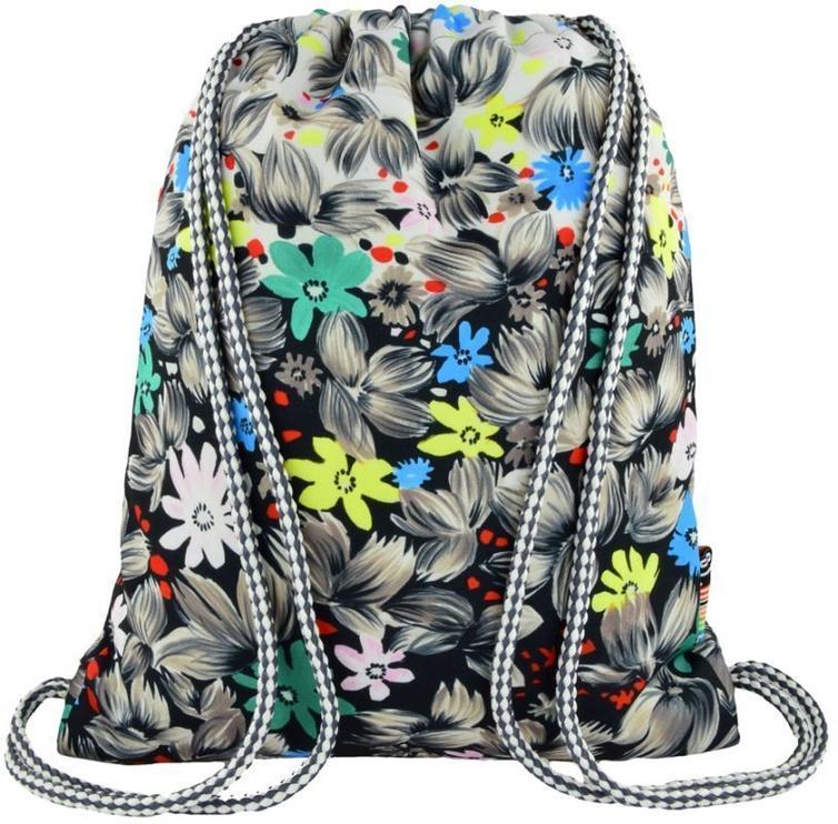 St.Majewski Sport Bag SO-11 Flowers Black