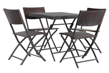 Home4you Nico Garden Furniture Set Brown
