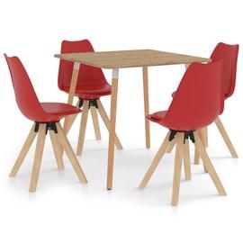 Обеденный комплект VLX 5 Parts Dining Set, красный