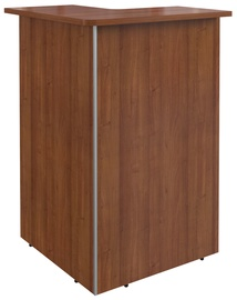 Skyland Dex DMC 88 Right Corner Reception Desk Walnut
