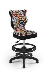 Детский стул Entelo Petit ST28, черный/многоцветный, 300 мм x 775 мм
