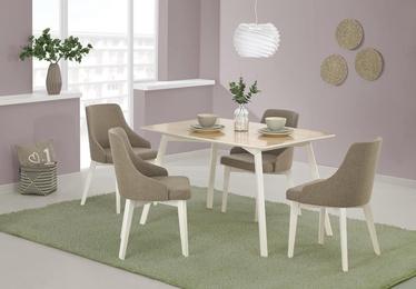 Pusdienu galds Halmar Petrus Beech/White, 1200x850x750 mm