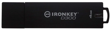 Kingston IronKey D300 USB 3.0 4GB Black
