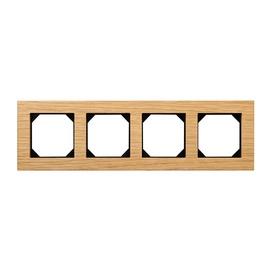 Liregus Epsilon K14-245-04 Four Way Socket Frame Wood