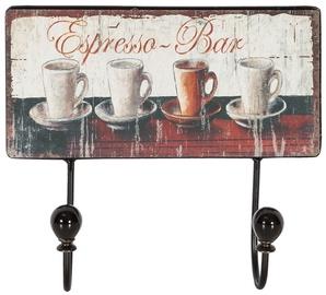 Home4you Wall Hanger Ventura Espresso Bar 76311
