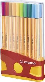 Lodīšu pildspalva Stabilo Point 88 Color Parade, oranža, 20 gab.