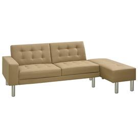 Диван-кровать VLX Faux Leather 323622, светло-коричневый, 197 x 83 x 70 см