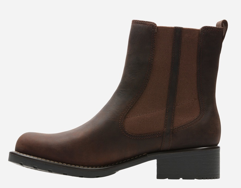 Clarks 261381714 Orinoco Hot WLined Leaather Boots Dark Brown 37