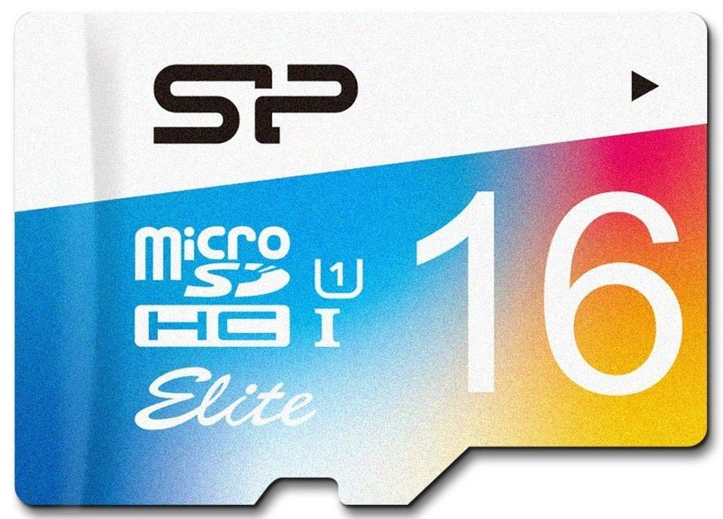 Silicon Power 16GB microSDHC Elite Colorful UHS-I Class 10 + SD Adapter