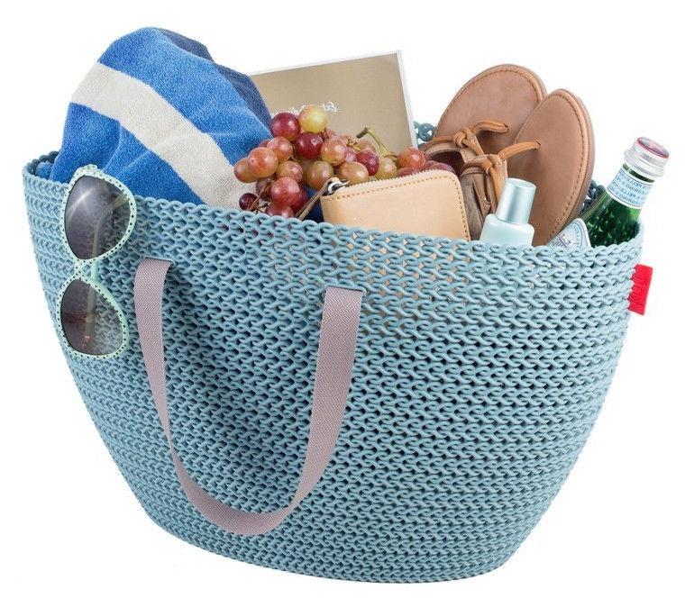Curver Knit Emily Basket 23l Blue