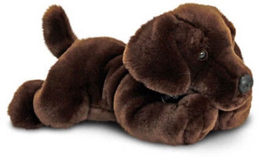 Keel Toys Dog Labrador 35 cm Dark Brown
