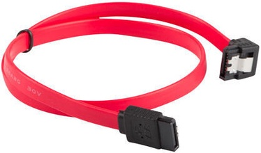 Lanberg SATA To SATA Angled Red 0.7m