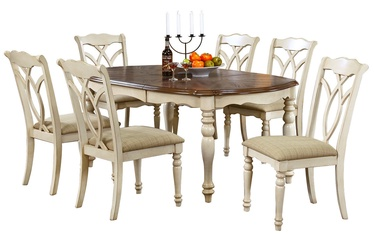 Hme4you Dining Set Lily 6 Oak/White