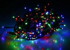 Elektriskā virtene Verners LED, 16 m, daudzkrāsaina