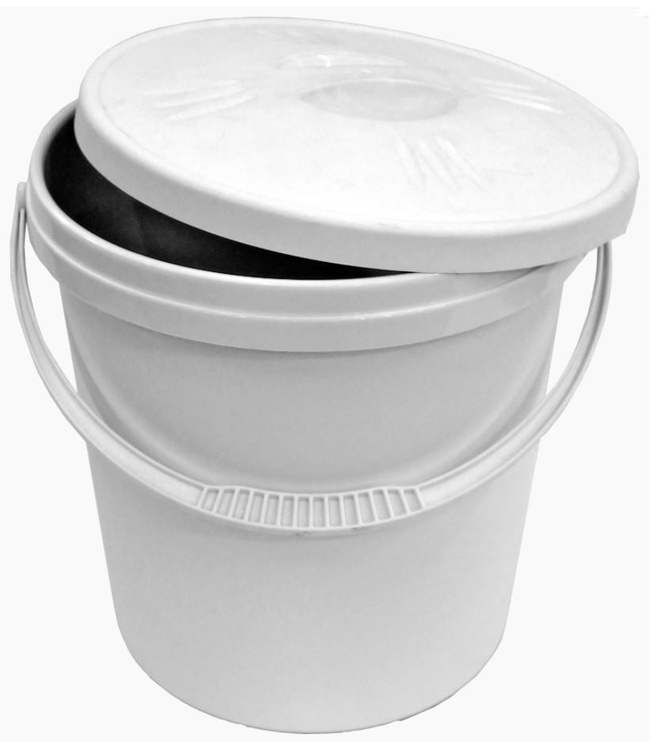 Plast Team Bucket With Lid 30.4x30.4x33.6cm 16l White