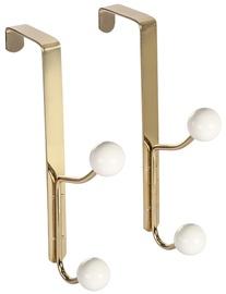 Home4you Metal Door Hangers 2pcs Gold