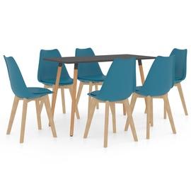 Обеденный комплект VLX 7 Piece Set 3056073, синий/серый