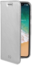 Celly Air Book Case For Apple iPhone X Silver