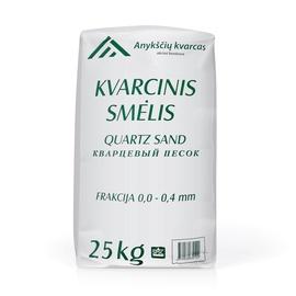 Kvarcinis smėlis 0–0,4 mm, 25 kg, 40