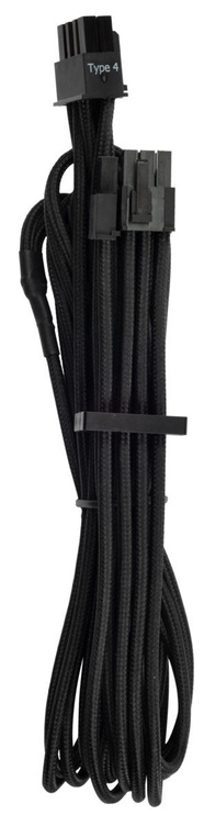Corsair Premium Individually Sleeved PCIe Cables with Single Connector Type 4 (Gen 4) Black